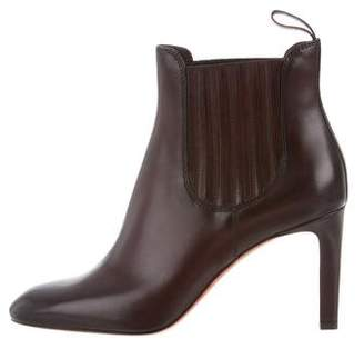 Santoni Leather Round-Toe Ankle Boots w/ Tags