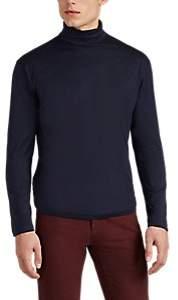 Sunspel Men's Cotton Turtleneck T-Shirt - Navy