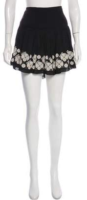 Figue Embroidered Mini Skirt
