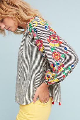 Floreat Embroidered Soleil Top $118 thestylecure.com