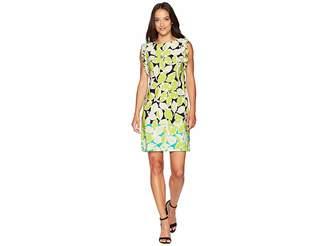London Times Ruffle Shoulder Shift Women's Dress