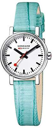 Mondaine Women's 'SBB' Quartz Stainless Steel and Leather Casual Watch