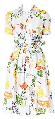 Carolina Herrera Women's Floral Belted Shirtdress
