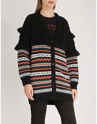 Philosophy di Lorenzo Serafini Ruffled knitted cardigan