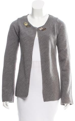 MarniMarni Wool Embellished Cardigan