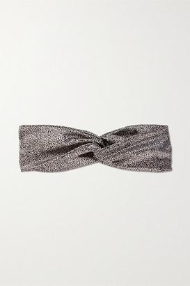 Slip Twist Leopard-print Silk Headband - Leopard print