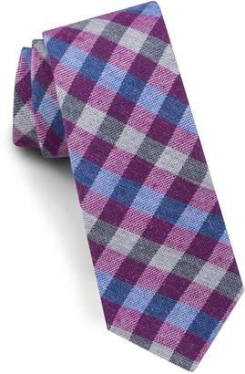Ted Baker Check Silk & Wool Tie