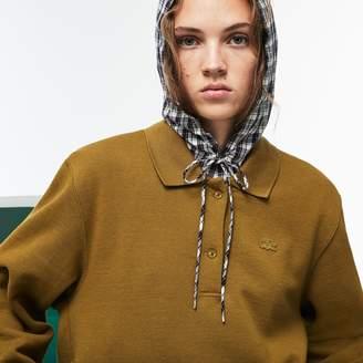 Lacoste Women's Fashion Show 2-in-1 Fleece And Check Poplin Polo