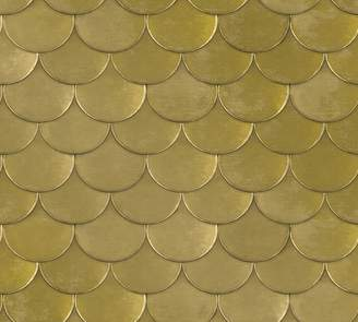 Pottery Barn Brass Metallic Wallpaper Sample