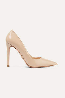 Prada Textured-leather Pumps - Neutral