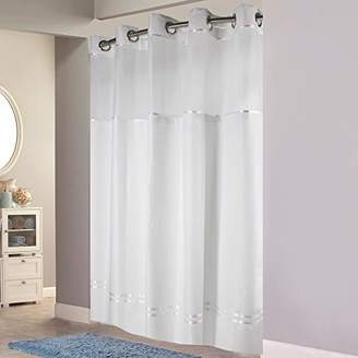 Hookless HBH40MYS0101SL77 Escape Shower Curtain With Snap-In Liner