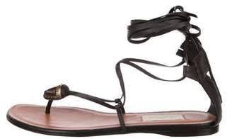 Valentino Leather Wrap-Around Sandals