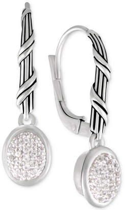 Peter Thomas Roth White Topaz Drop Earrings (3/8 ct. t.w.) in Sterling Silver