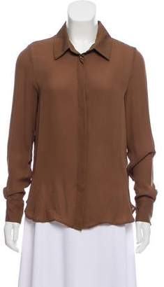 Haute Hippie Silk Button-Up Top