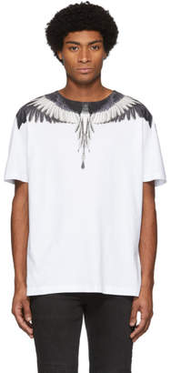Marcelo Burlon County of Milan White and Black Wings T-Shirt
