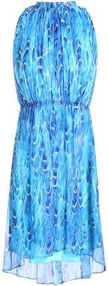 Elie Tahari Abertha Gathered Printed Chiffon Mini Dress