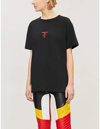 Boy London Metallic logo-print cotton-jersey T-shirt