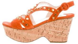 Prada Delectus Studded Platform Sandals w/ Tags