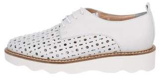 Baldinini Laser Cut Leather Oxfords