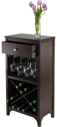 Winsome Wood Ancona Modular Wine Cabinet, X-Shelf, Dark Espresso
