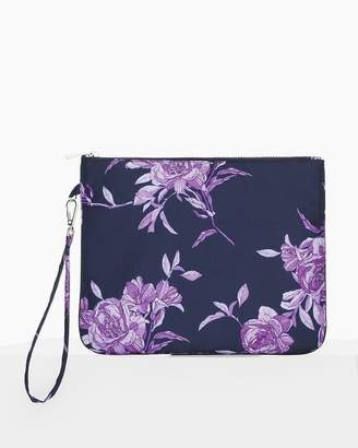 Navy Floral Pouch