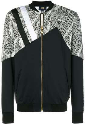 Class Roberto Cavalli printed panel bomber jacket