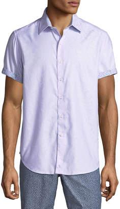 Robert Graham Men's Fannin Short-Sleeve Button-Front Printed Woven Shirt