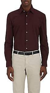 Piattelli MEN'S BRUSHED COTTON SHIRT-WINE SIZE XXL