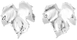 Oscar de la Renta Grape Leaf Earrings