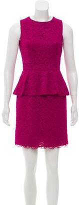 Cynthia Steffe Lace Peplum Dress