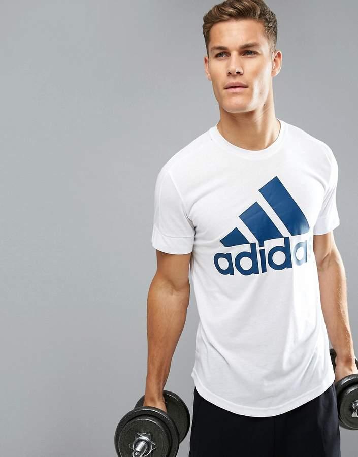 Adidas adidas Logo T-Shirt In White BR4054