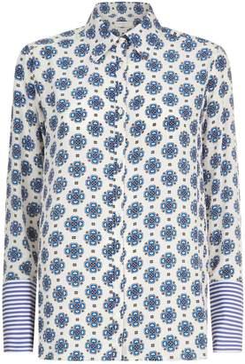 Sandro Mosaic Print Shirt