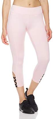 Mint Lilac Women's Printed Capri Leggings Workout Athletic Yoga Pants with Ruched Waistband