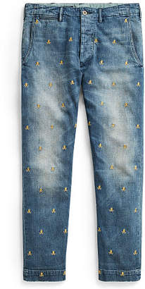 Ralph Lauren Slim Fit Embroidered Jean