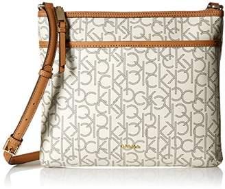 Calvin Klein Hudson Signature Top Zip Crossbody Flat Pack