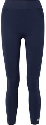 Tory Sport Seamless Cropped Stretch-jersey Leggings - Navy