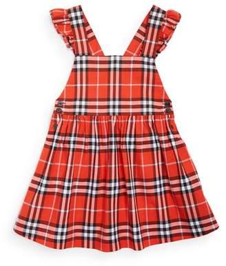 Burberry Girls' Livia Ruffle Vintage Check Dress - Little Kid, Big Kid
