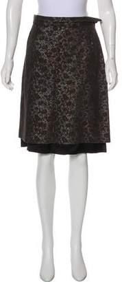 Dries Van Noten Knee-Length Brocade Skirt