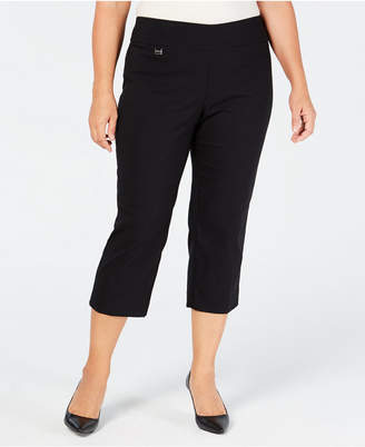 Alfani Plus Size Tummy-Control Pull-On Capri Pants