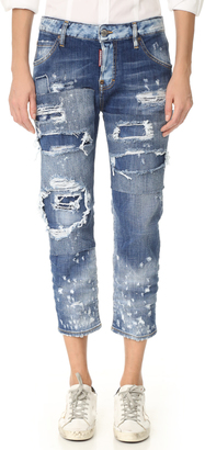 DSQUARED2 Cool Girl Cropped Jeans $775 thestylecure.com