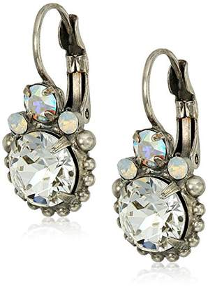 Sorrelli White Bridal Solar Flare Drop Earrings