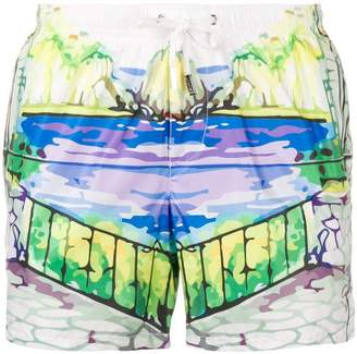 fe-fe Capri swim shorts