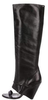 Maison Margiela Leather Knee-High Sandals