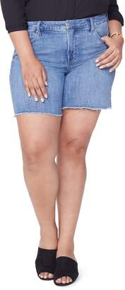 NYDJ Jenna Frayed Denim Shorts