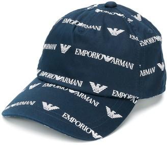 Emporio Armani denim logo hat