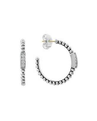 Lagos CaviarTM Spark Diamond Hoop Earrings