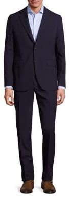 Boglioli Men's Solid Wool Suit - Blue - Size 60 (50)