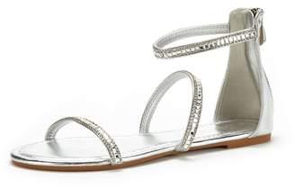 Athena Dream Pairs Women's ATHENA_ Fashion Gladiator Design Ankle Strap Flat Sandals