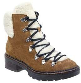 Marc Fisher Capell Shearling Lace-Up Hiker Boot