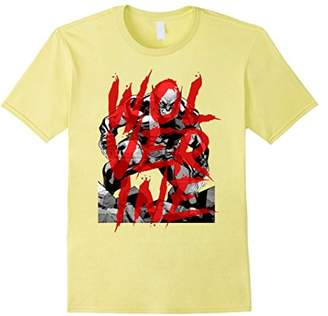 Marvel X-Men Wolverine Sees Red Graffiti Graphic T-Shirt